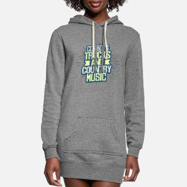Folk Music Cowboy Trucks and Country Music - Women's Hoodie Dress
