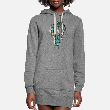 Stamp Stamp - Women's Hoodie Dress