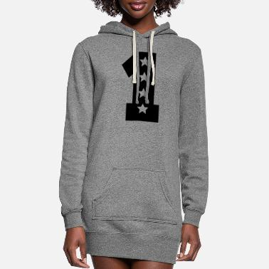 Number numbers - Women's Hoodie Dress