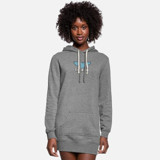 Symbol  Hoodies & Sweatshirts - SEAS THE DAY - Women's Hoodie Dress heather gray