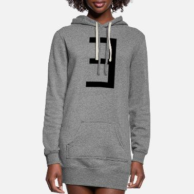 Symbol there exists (maths symbol) - Women's Hoodie Dress
