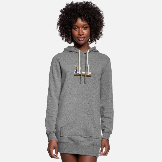 Western Horse Hoodies & Sweatshirts - Western 37 G - Women's Hoodie Dress heather gray