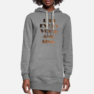 Power Lift Every Voice and Sing |Black Anthem History - Women's Hoodie Dress