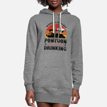Cruise Weekend Forecast Pontoon With A Chance Of Drinking - Women's Hoodie Dress