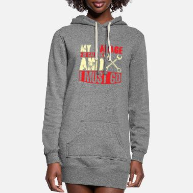 Motorcycle My garage ist calling so i have to go mechanic fun - Women's Hoodie Dress