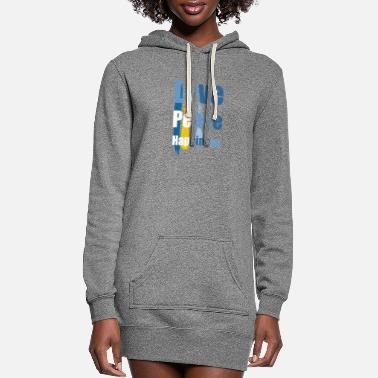 Happiness peace love happiness - Women's Hoodie Dress