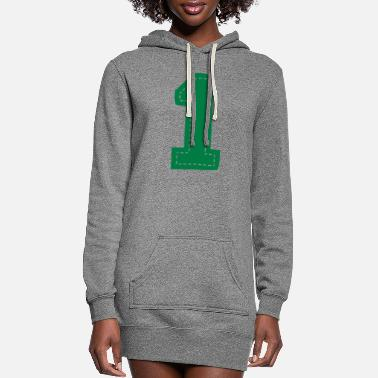 Birth Number One Patch - Women's Hoodie Dress
