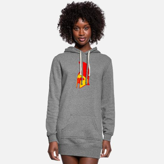Spartans Hoodies & Sweatshirts - helmet - Women's Hoodie Dress heather gray