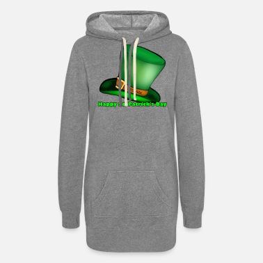 Green Text Happy St Patrick's day, Green text - Women's Hoodie Dress