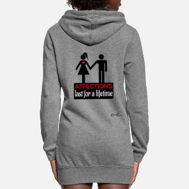 Couples couples-affection-blk - Women's Hoodie Dress