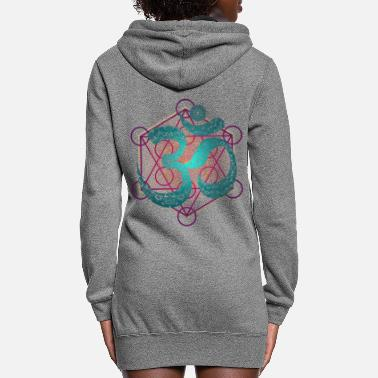 Geometry OM Sign Buddhist Indian Holy Geometry - Women's Hoodie Dress