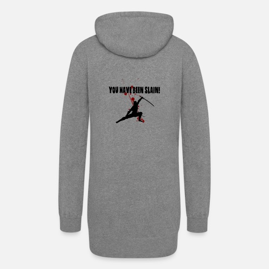 Play Hoodies & Sweatshirts - You have been slain - Women's Hoodie Dress heather gray