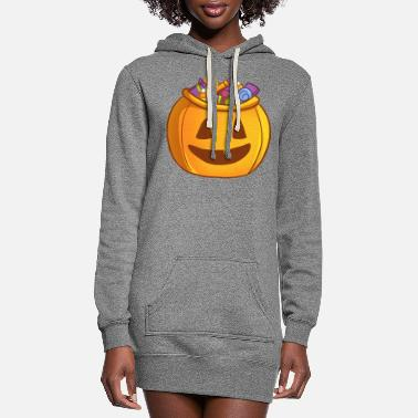 Spooky Hippie Candy Spooky Bowl - Women's Hoodie Dress