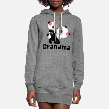 Panda Grandma Gift (Panda) - Women's Hoodie Dress