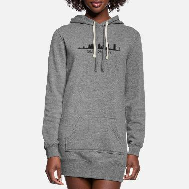 Quezon City Quezon City Philippines Skyline - Women's Hoodie Dress