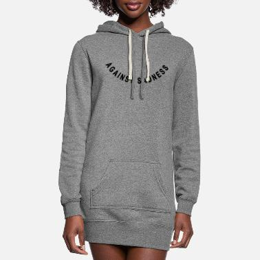 Mouth Provoking Smiling against sadness (smile) - Women's Hoodie Dress