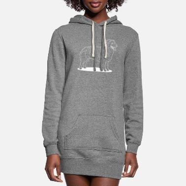 Australian Sheep Dog Australian Shepherd side profile - Women's Hoodie Dress