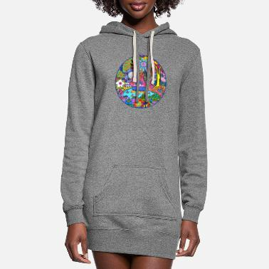 Pond Pond Abstract - Women's Hoodie Dress