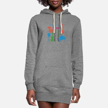 Musical Instruments Musical Instruments - Women's Hoodie Dress