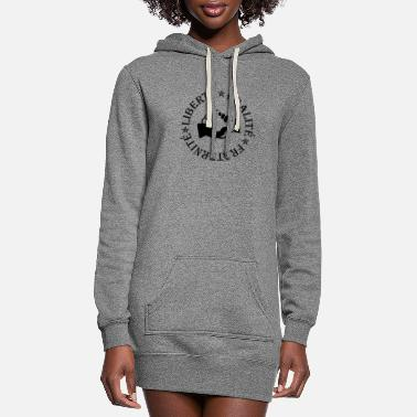 Fraternity Liberty, equality, fraternity - Women's Hoodie Dress