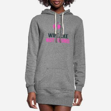 Binary Wife.exe Not Found Single Unmarried Key Programmer - Women's Hoodie Dress