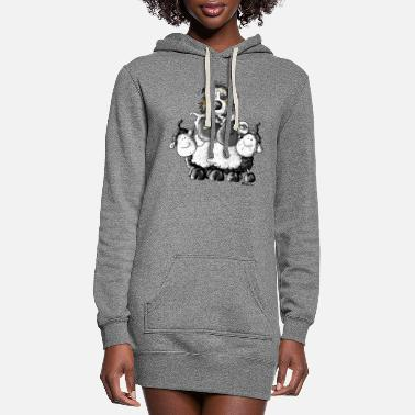 Australian Sheep Dog Australian Shepherd and sheep - Dog - Women's Hoodie Dress