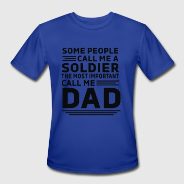 Soldiers Dad Soldier DAD - Men's Moisture Wicking Performance T-Shirt