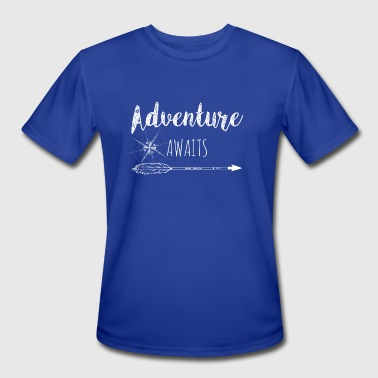 Await Adventure Awaits - Men's Moisture Wicking Performance T-Shirt
