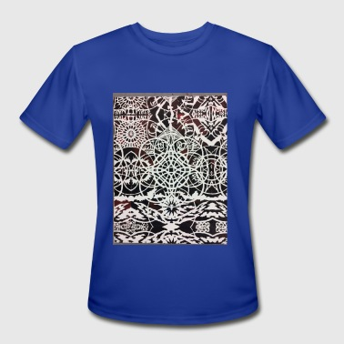 Geometry of Sky Dwellers - Men's Moisture Wicking Performance T-Shirt
