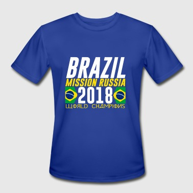 BRAZIL BRASIL WORLD CUP 2018 FAN SHIRT COOL LOOK - Men's Moisture Wicking Performance T-Shirt
