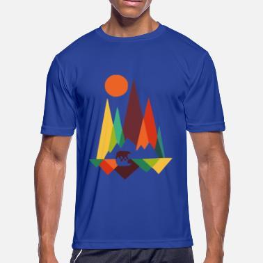 4a23910b bear in whimsical wild prints - Men's Sport T-Shirt