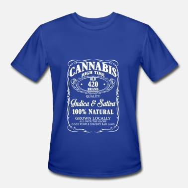 Wine Addiction Funny Wine Cannabis Wine Addicted Wine Label - Men's Moisture Wicking Performance T-Shirt