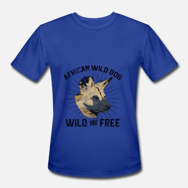 African Wild Dog Dogs Grudge - African Wild Dog - Men's Moisture Wicking Performance T-Shirt