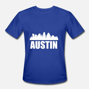 Austin Tx Austin TX Skyline - Men's Moisture Wicking Performance T-Shirt