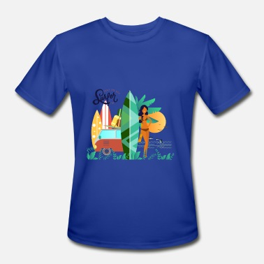 Paradise surfers time - Men's Moisture Wicking Performance T-Shirt