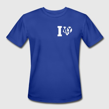 I love my city - Men's Moisture Wicking Performance T-Shirt