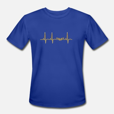 Pol evolution ekg heartbeat pistole pistols weapon pol - Men's Sport T-Shirt