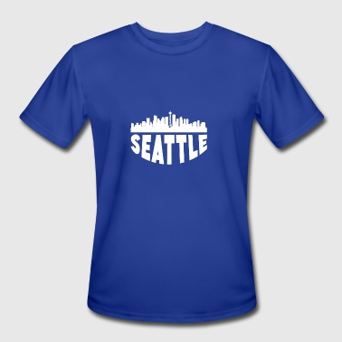 Seattle Wa Seattle WA Cityscape Skyline - Men's Moisture Wicking Performance T-Shirt