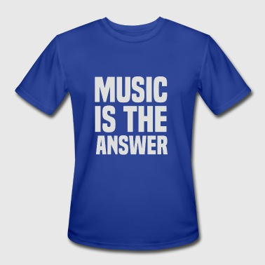 Music Is The Answer - Men's Moisture Wicking Performance T-Shirt