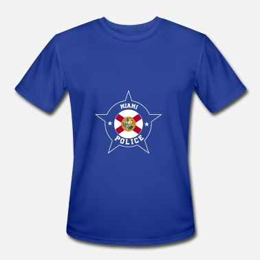 Miami Police Miami Police T Shirt - Florida flag - Men's Moisture Wicking Performance T-Shirt