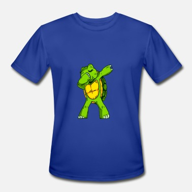 Green Turtle Dabbing Turtle - Men's Sport T-Shirt