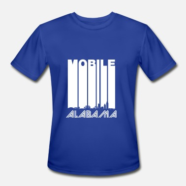 Mobile Alabama Retro Mobile Alabama Skyline - Men's Sport T-Shirt