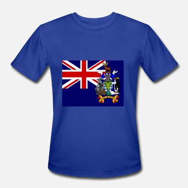 South Island South Georgia and the South Sandwich Islands Flag - Men's Moisture Wicking Performance T-Shirt