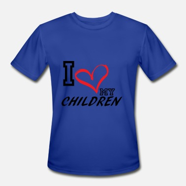 Feminist-plus-size I_LOVE_MY_CHILDREN - PLUS SIZE FIT - Men's Moisture Wicking Performance T-Shirt