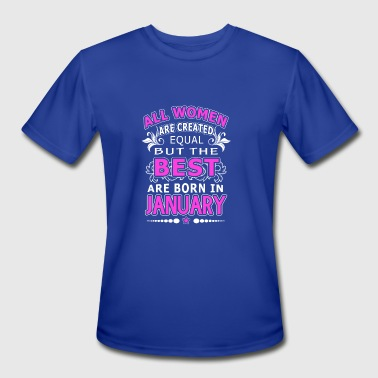 Best Woman Born In January The Best Woman Born In January - Men's Moisture Wicking Performance T-Shirt