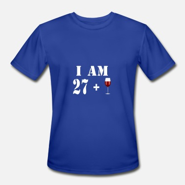 March 1991 27 I am 27 plus glass of wine - Men's Sport T-Shirt