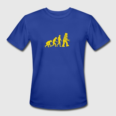 robot evolution robots funny logo - Men's Moisture Wicking Performance T-Shirt
