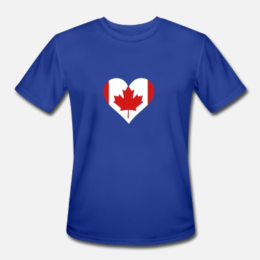 East Vancouver A Heart For Canada - Men's Moisture Wicking Performance T-Shirt