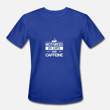 Cats And Caffeine Motivated By Cat Caffeine Cat Caffeine - Men's Moisture Wicking Performance T-Shirt