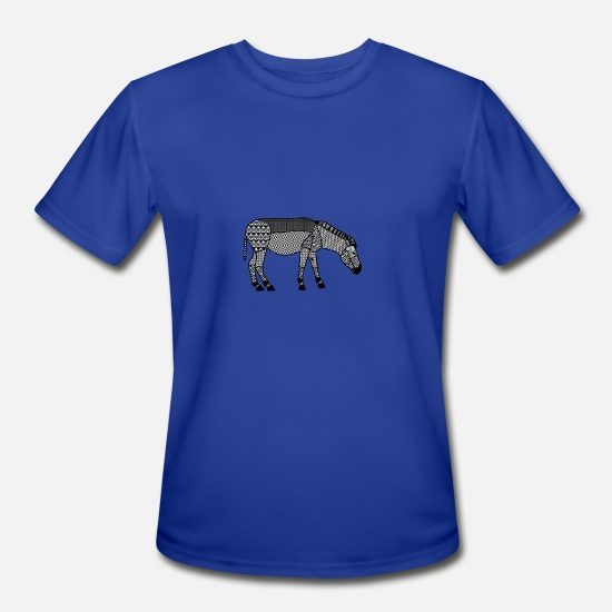 Wild T-Shirts - zebra horse safari serengeti africa afrika pferd18 - Men's Sport T-Shirt royal blue